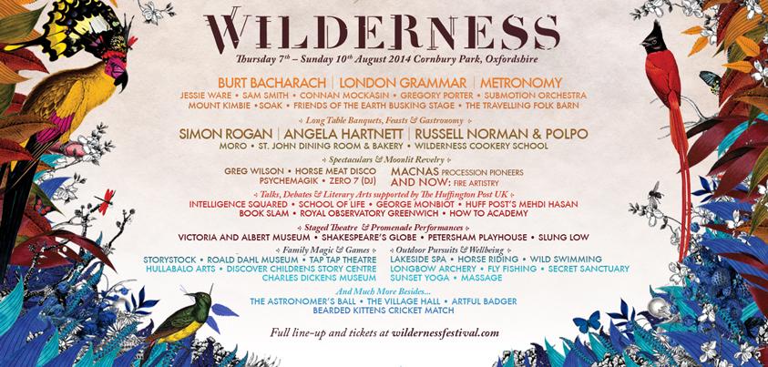 Wilderness Festival Update… | AAA Music