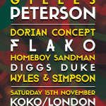 Gilles Peterson Announces London Show with Flako + Dorian Concept